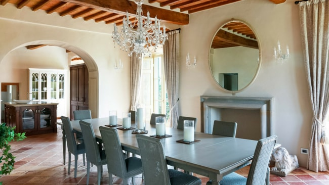 The dining room so perfect for all your dinner party fantasies. Photo: Luxury Retreats