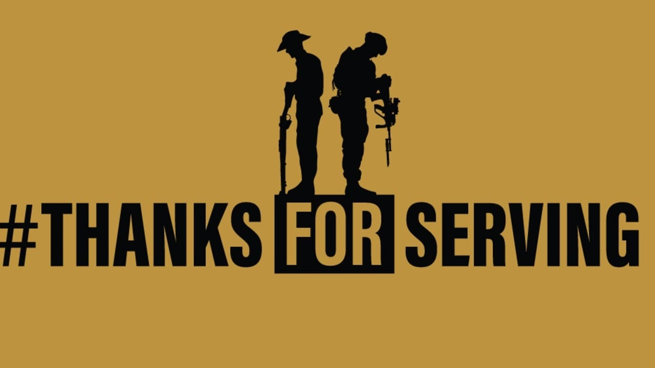 The Thanks For Serving logo,