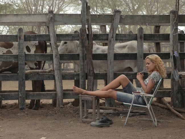 Maeve Jinkings, who stars as Galega, is thinking about her next sensual dance in Neon Bull. Picture: Supplied