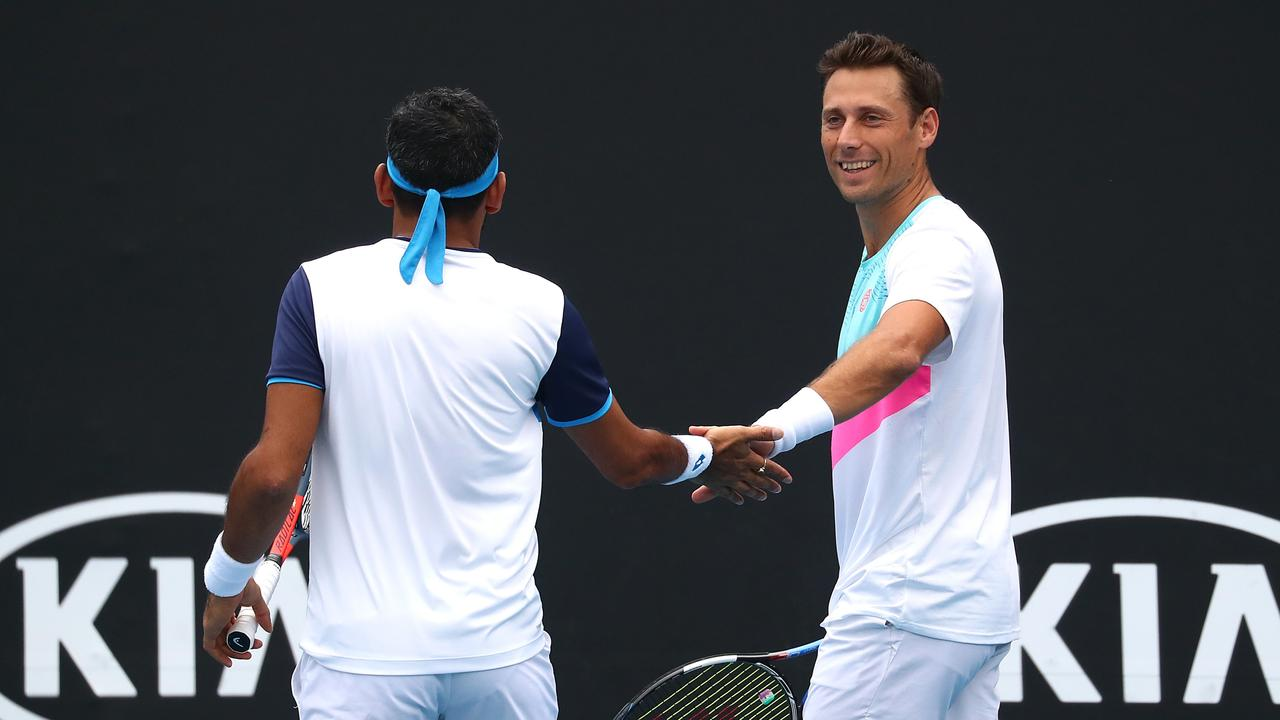 New Zealand's Artem Sitak (R) has hit back at Australian Open rivals complaining about hotel quarantine.