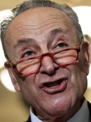 Senate Minority Leader Chuck Schumer. Picture: AP