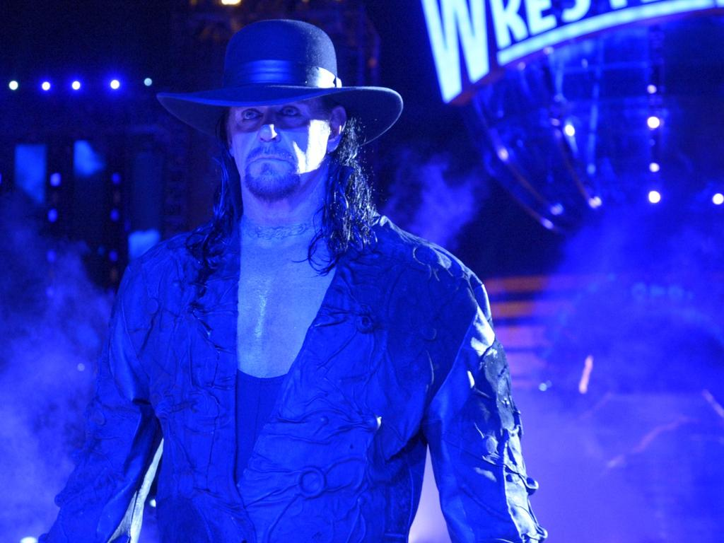 Supllied images of  The Undertaker at WrestleMania 33, Orlando FL, April 2017. Photo Credit 2018 WWE, Inc