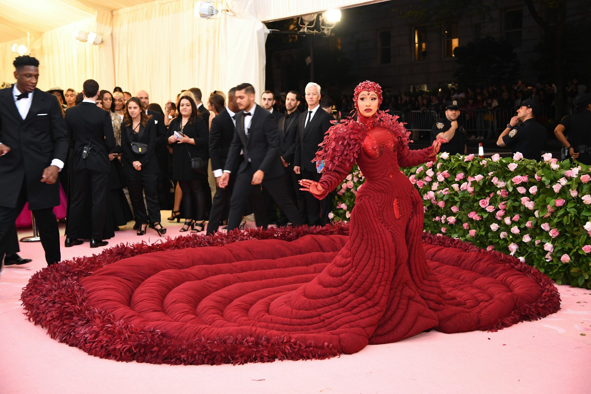 Cardi B's Met Gala 2019 dress featured 30,000 feathers and took 35 people 2,000 hours to make