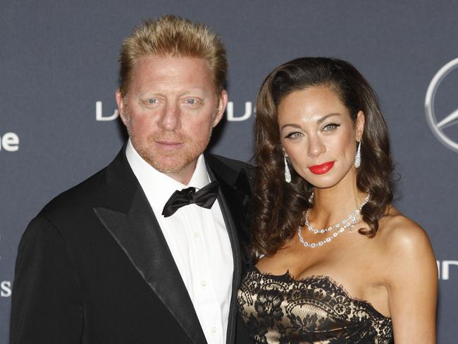 German tennis legend Boris Becker with his wife Lilly in happier times. Picture: AP
