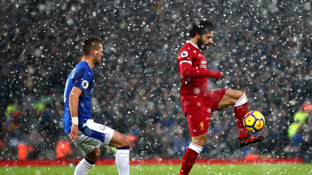 Mo Salah scored on a snowy December night at Anfield.
