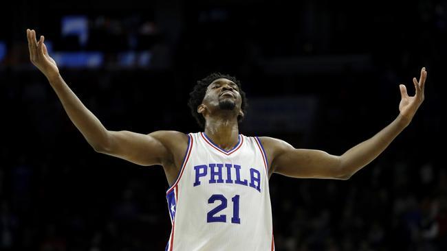 Philadelphia 76ers' Joel Embiid.