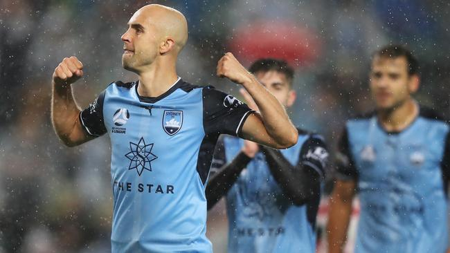 Adrian Mierzejewski helped Sydney FC to a big derby win.