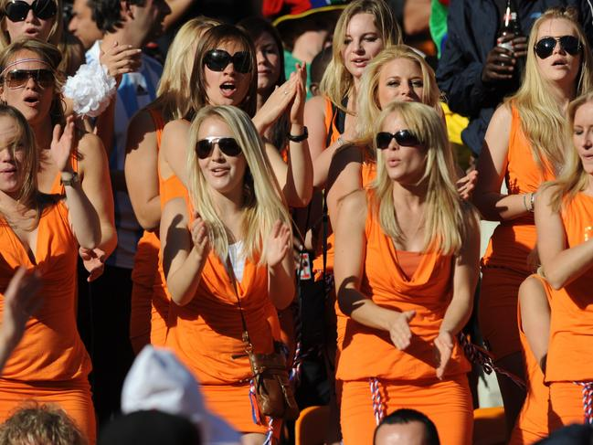 Dutch fans at the 2010 World Cup in South Africa. Gerry Penny/EPA