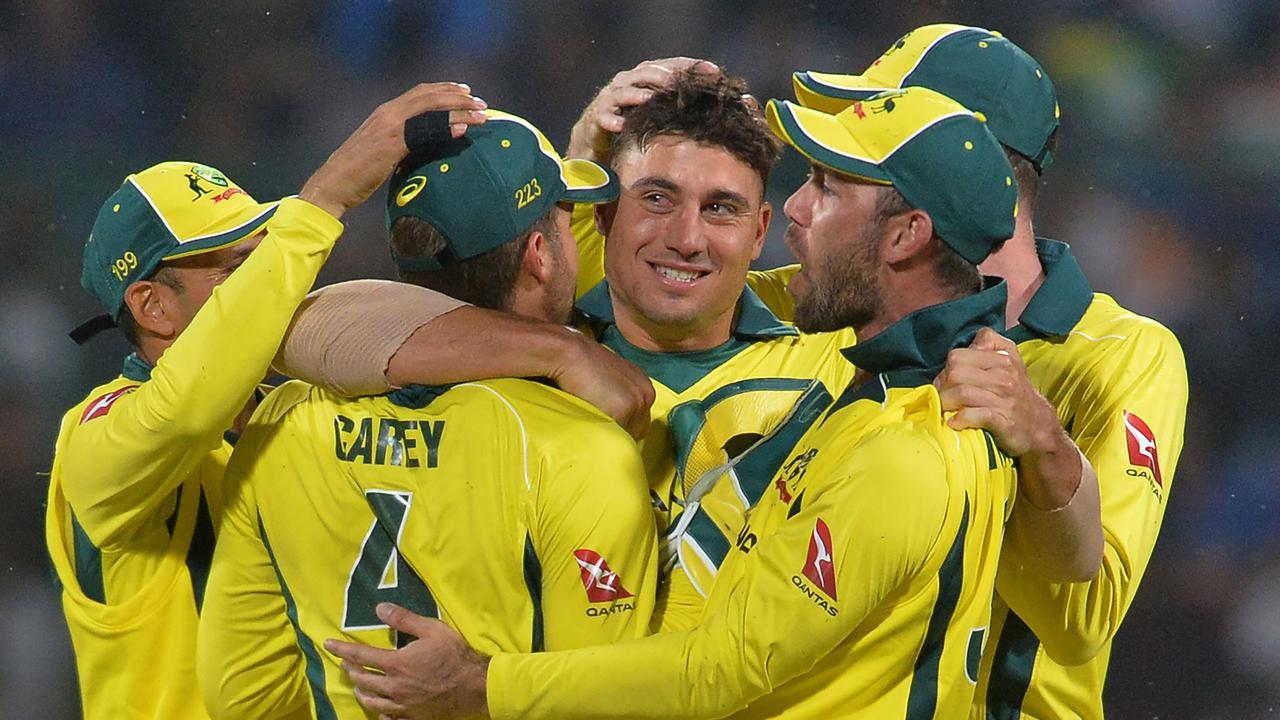 Australia celebrate on their way to victory.