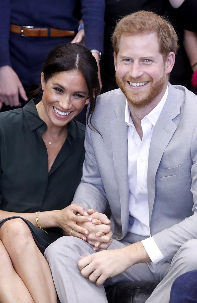 Prince Harry and Meghan Markle's approach in public goes against normal royal protocol. Picture: Chris Jackson
