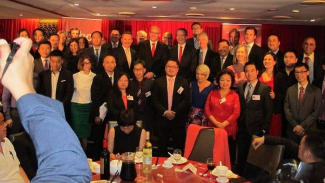 A photo from the dinner showing Mr Shorten and Mr Foley were there. Picture: Facebook