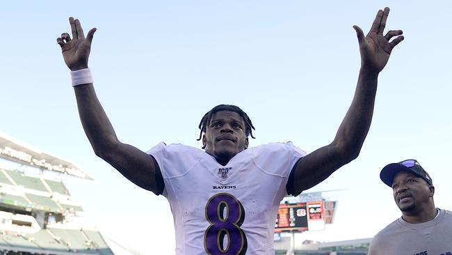 Lamar Jackson has been on fire for the Baltimore Ravens. Picture: AFP