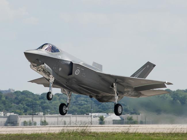 Australia's first Lockheed Martin, F-35A Lightning II Joint Strike Fighter, making its inaugural flight.