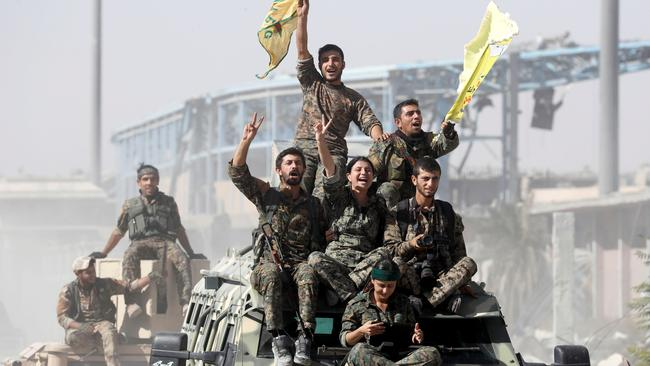 The victory against IS in Raqqa was hailed as a major win in the fight against terrorism. Picture: Reuters/Erik De Castro