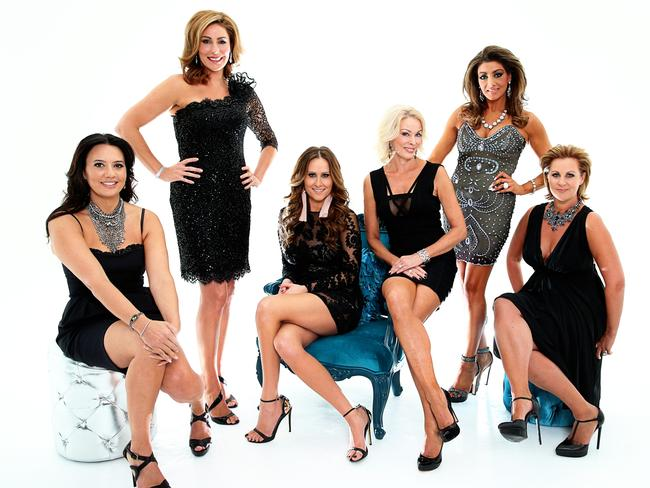 The Real Housewives of Melbourne: Lydia Schiavello, Andrea Moss, Jackie Gillies, Janet Roach, Gina Liano and Chyka Keebaugh.
