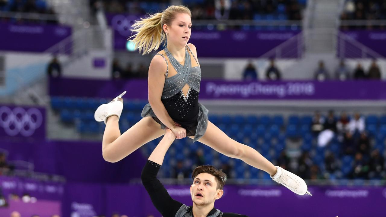 Ekaterina Alexandrovskaya and Harley Windsor compete at the PyeongChang 2018 Winter Olympics.