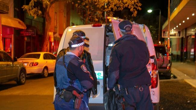 One of the alleged suspects involved is arrested. Kings Cross king hit on Bayswater Rd Potts Point.