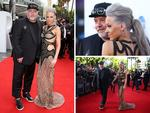 Kyle Sandilands and girlfriend Imogen Anthony arrive on the red carpet at the ARIA Awards 2014 in Sydney, Australia. Picture: Getty