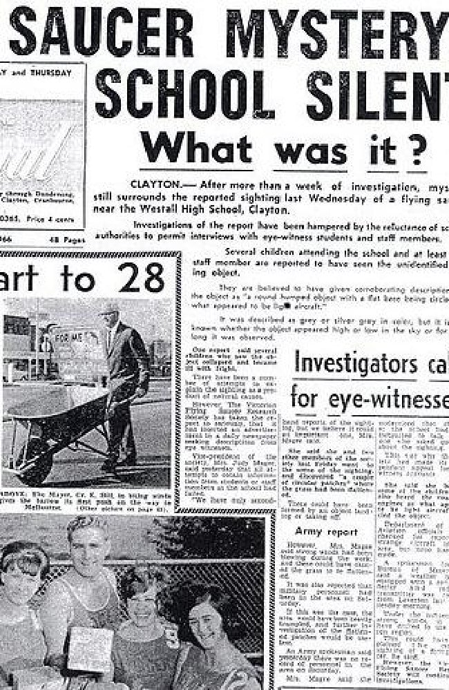 The front-page of the Dandenong Journal newspaper following the incident.