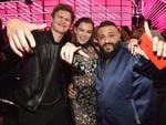 Ansel Elgort, Hailee Steinfeld and DJ Khaled attend the 2017 Billboard Music Awards at T-Mobile Arena on May 21, 2017 in Las Vegas, Nevada. Picture: Getty