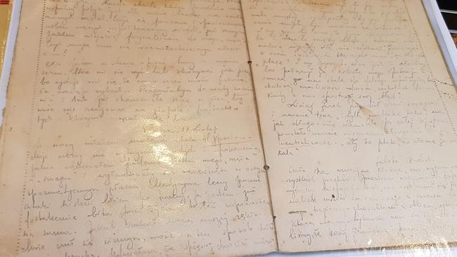 The original diary Lena Goldstein wrote in Polish while in hiding in the Warsaw ghetto during the second half of WWII.