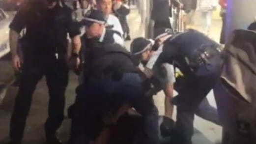 A man was arrested at Central station after a police officer was stabbed. Picture: ABC
