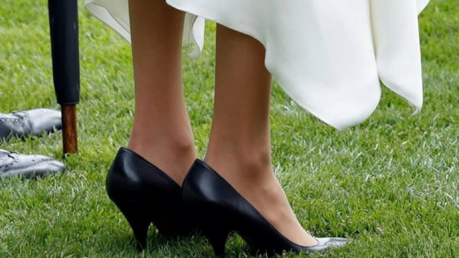 Meghan Markle's shoes looked too big at Royal Ascot. Image: Getty