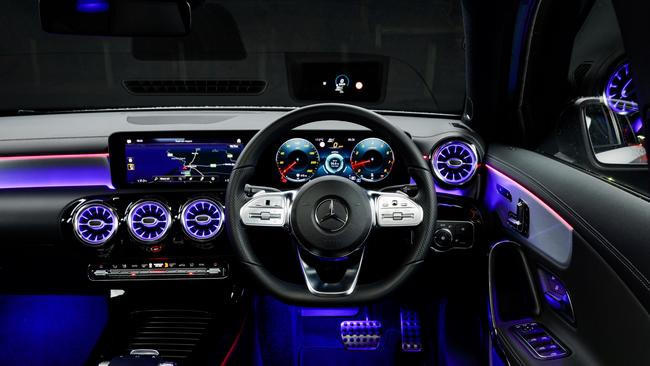 The A-Class features a new dual-screen dash layout.