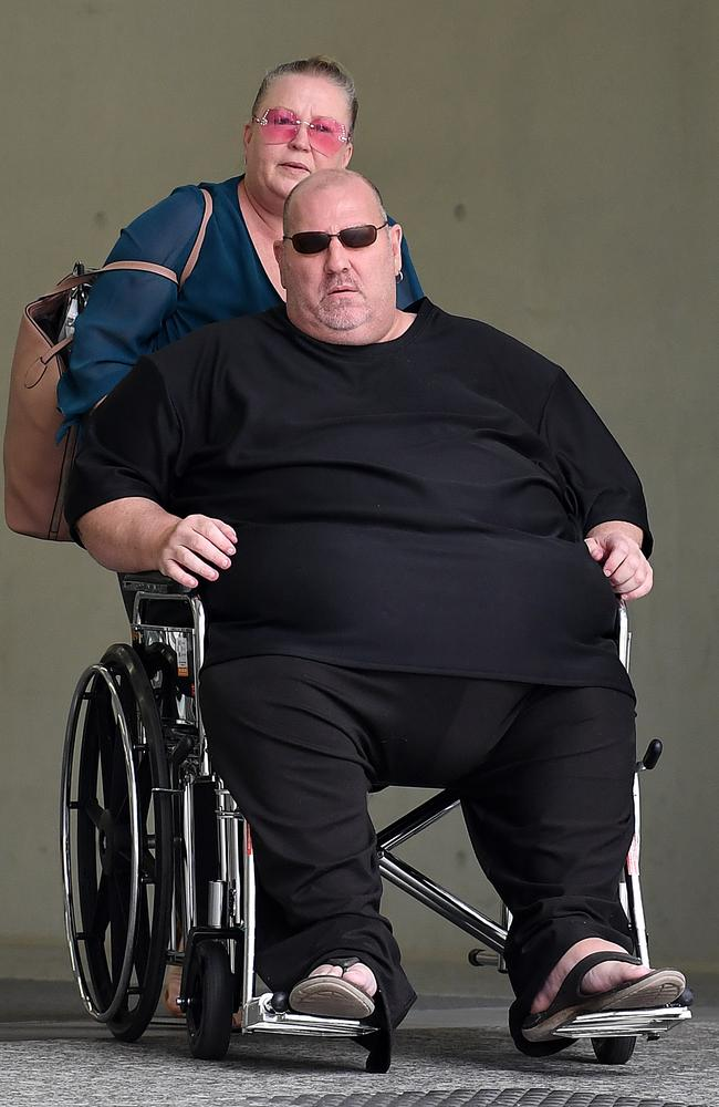 Kade Jones is wheeled out of court. Picture: AAP Image/Dave Hunt