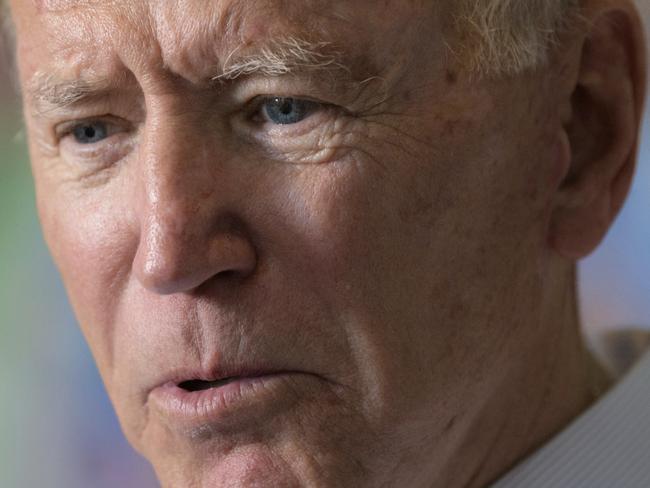 Joe Biden is the Democratic frontrunner in the 2020 primary debates. Picture: AP