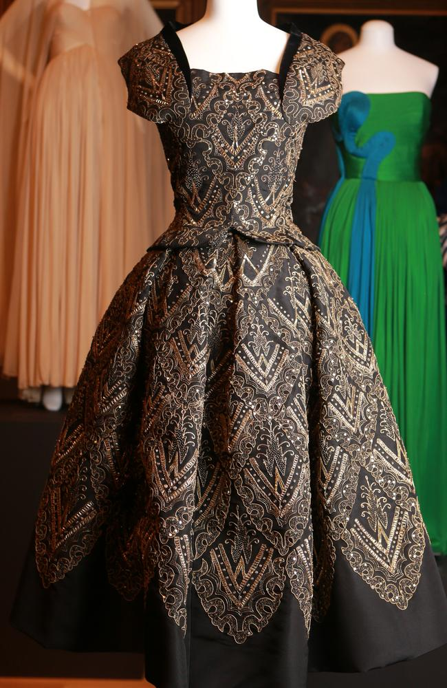 Hundreds of hours go into creating handmade couture gowns