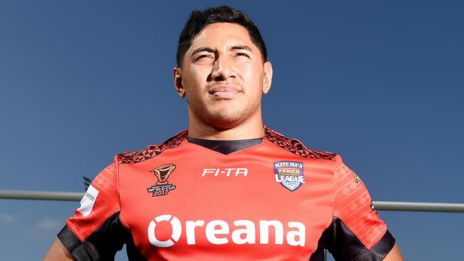 Jason Taumalolo in his RLWC Tonga jersey.