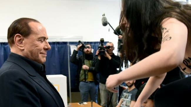 After the uncertain elections, Silvio Berlusconi will apparently play a key role in the outcome of the weekend elections. Photo: AFP/Miguel Medina