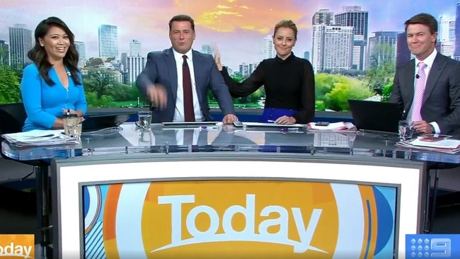 The hosts of Today Tracy Vo, Karl Stefanovic, Allison Langdon and Alex Cullen. Picture: Channel 9