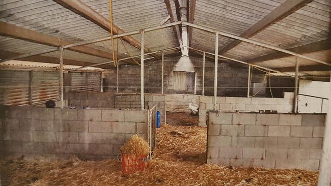 Inside the shed where Davine was held captive. Picture: SAPOL