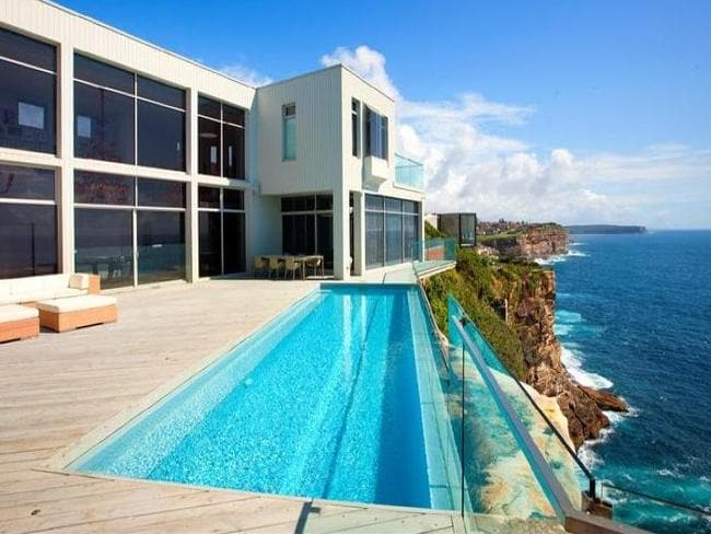 Anthony Bell's pad has stunning ocean views.