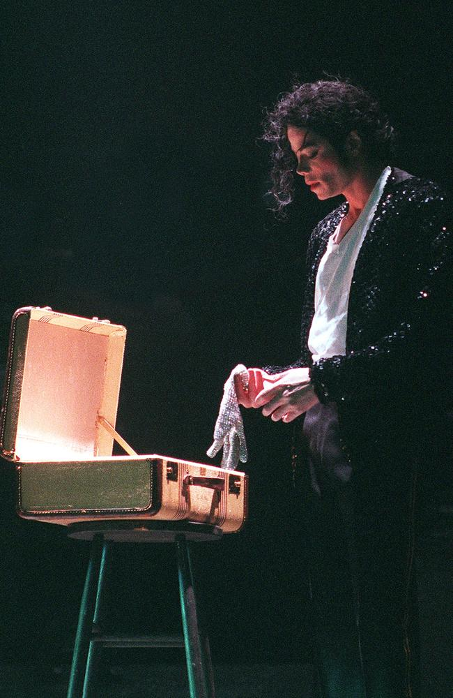 Jackson in a contemplative moment onstage in Bremen in 1997. Picture: Dave Hogan/Getty Images