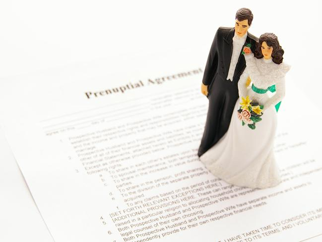 The bride-to-be was shocked at the bizarre prenuptial demands.