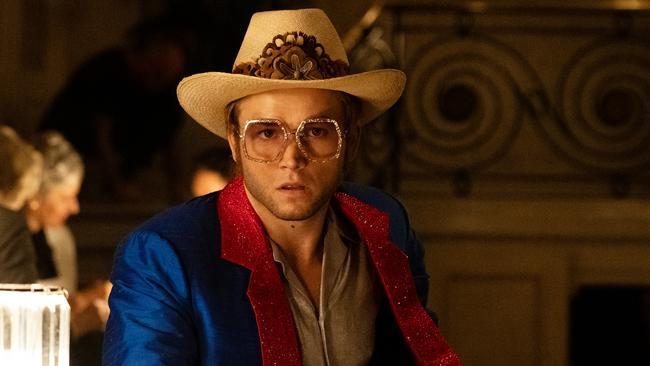 Taron Egerton plays Elton John in the biopic.