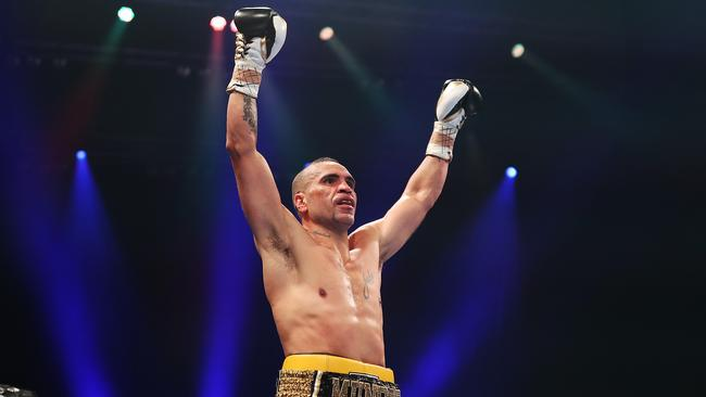174ad14ebf4 Anthony Mundine after knocking out Tommy Browne in the second round.