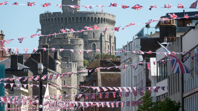 Flags lines the streets in front of Windsor Castle. Photo: Matt Cardy/Getty Images