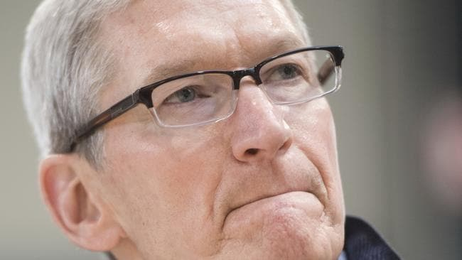 Apple CEO Tim Cook. Picture: AP