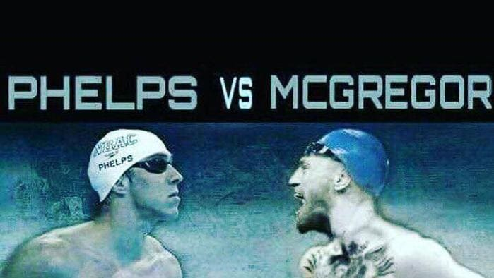 Olympian Michael Phelps has jokingly challenged Conor McGregor to a showdown in the pool.