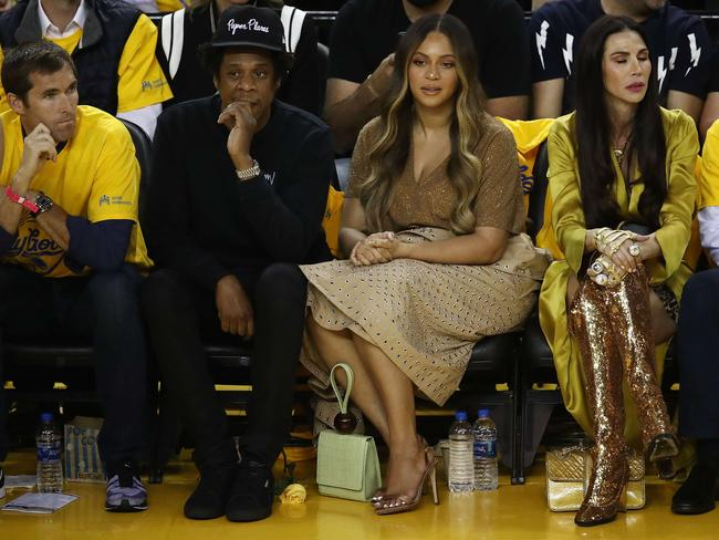 Beyonce scans the arena for a spare seat. Picture: /Getty Images/AFP