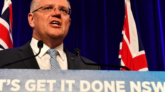Prime Minister Scott Morrison will be hoping the SFF threat is confined to New South Wales. Picture: AAP Image/Mick Tsikas.