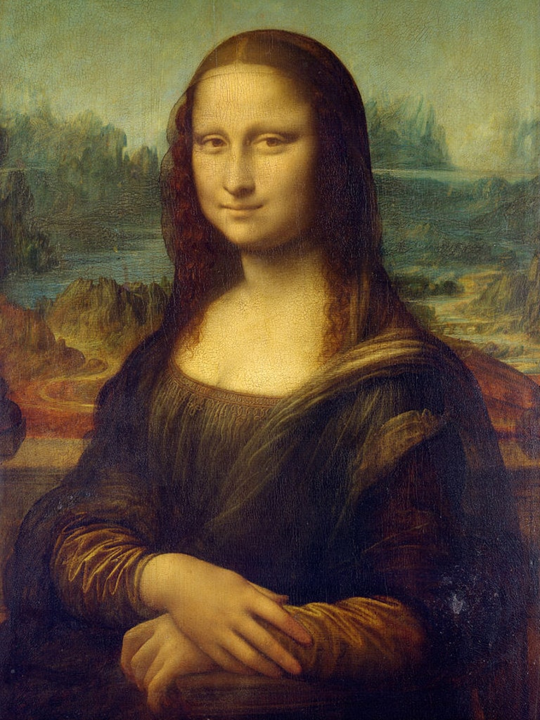 Part of the Mona Lisa by Leonardo da Vinci.