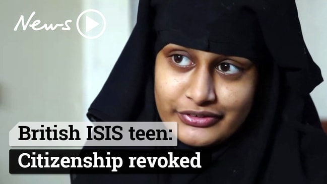 British ISIS teen Shamima Begum has British citizenship revoked