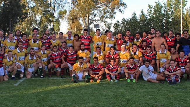 Stockman Rugby Club with Los Tordes in Mendoza, Argentina.