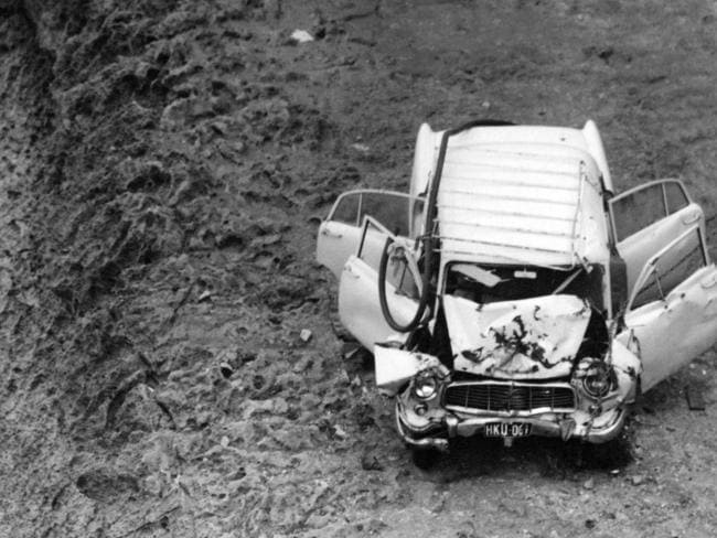 The car in which the four bodies were found in.