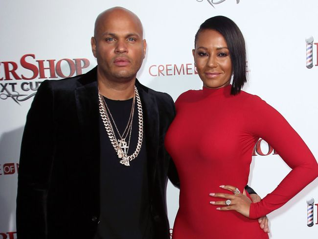 Mel B and Stephen Belafonte in Hollywood, California. Photo: David Livingston/Getty Images.